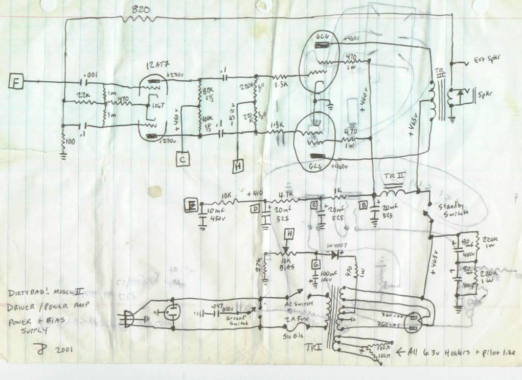 DIRTY!Bad Pwr Amp schematic