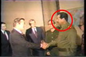 Holy Shit...is that Rumsfield there with Saddam? WTF?!?!?...yep, the previous bushits made him, and OBL, too..