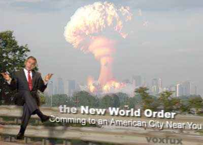 NWO...coming to you from BushCo....(a subsidiary of Halliburton)