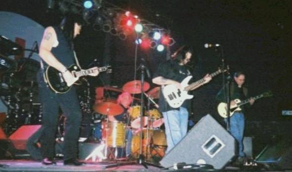 Almost Nasty Axe...Joe Rivera,Marty Robinson, and Al Pelegrino, as the band Franklin...Mark Roth on the White Les Paul..