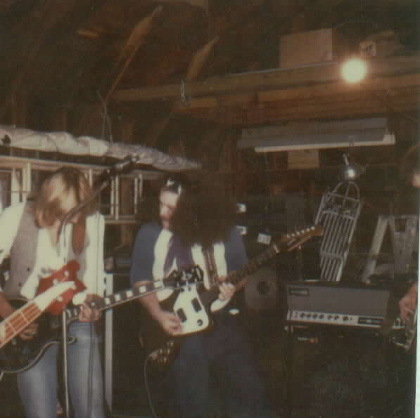 A weekend furlough from hell in 1985, jammin' in the garage at my folks house...the fuckin' neighbors, of course, called the pigs..what a riot...