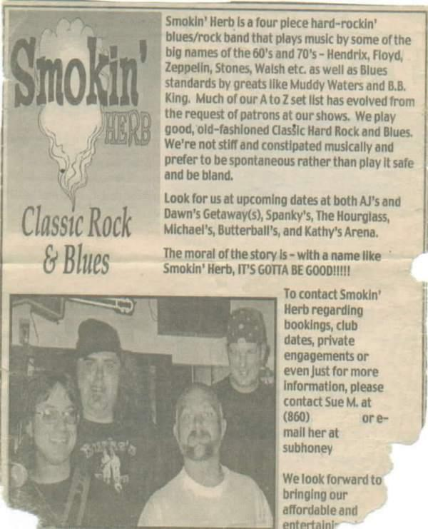 our 1st press in the Hartford Advocate, 2000